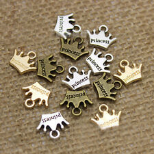 100pcs Tibet bronze silver gold Crown Charm Pendant beaded Jewelry Findings