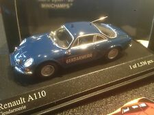 MINICHAMPS 430113690 RENAULT ALPINE A110 1971 GENDARMERIE 1/43 NEW IN BOX