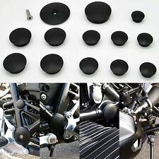 BMW R Nine t nineT Frame Insert Plugs - Black 2014+