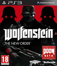 Wolfenstein The New Order ~ PS3 (Like Brand New in Condition)