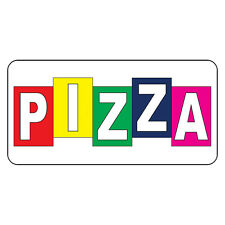 Pizza Retro Vintage Style Metal Sign - 8 In X 12 In With Holes