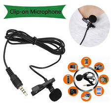 Clip-On Lapel Mini Condenser Wired Microphone MIC For iPhone SmartPhones