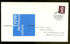 GB Definitives FDC, 15th Jan 1975 Suffolk FDI #C1017