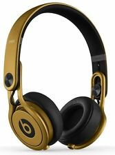 Beat Dre Mixr DJ Headphone Gold Limited Edition Dual Audio Ear Cup Authentic New