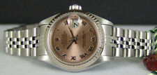 ROLEX Ladies White Gold Stainless Steel DateJust Rose Roman 79174 SANT BLANC