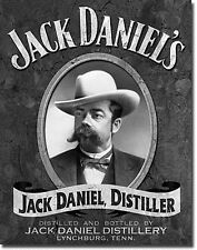 Jack Daniels Portrait (B&W) Metal Wall Sign 420mm x 310mm  (de)  FROM UK