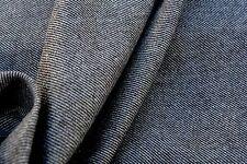 D214 RUSTIC marrone melange SUPER SOTTILI pettinata Lana Misto Cotone Twill Diagonale