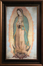 """Our Lady of Guadalupe Religious Icon Faux Frame Stretched Canvas 23""""x35"""""""