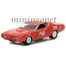 GREENLIGHT 41010 E 1971 71 DODGE CHARGER STP 1/64 DIECAST MODEL CAR RED