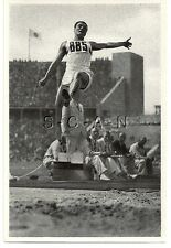 WWII GERMAN- Large 1936 OLYMPIC Sports Photo Image- Long Jump- Erwin Huber