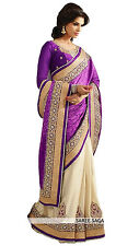Sari Exclusive Beautiful Bollywood Indian Georgette saree Designer Blouse Sari