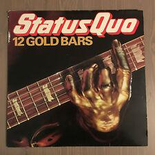 STATUS QUO 12 Gold Bars 1980 UK vinyl LP EXCELLENT CONDITION