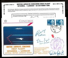 25.10.1986 BA CONCORDE Cpt.ROBERTSON & CREW SIGNED COVER~ISTANBUL-LONDON_LimEd
