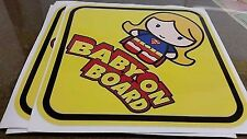 SUPERGIRL Baby Sign Chibi BABY ON BOARD WINDOW DECAL SIGN STICKER WARNING VINYL