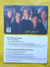 cartes telephone 1998 phone cards 100 units bon jovi phonecards telefonkarten gq