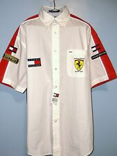 NEW TOMMY HILFIGER SHIRT Ferrari Racing Men L/Large Limited Edition Patches NWT