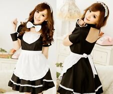Hot Japanese Cosplay Lolita French Maid Costume Dress Halloween Free Shipping