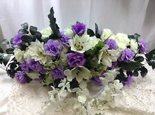 "PURPLE SWAG 36"" Centerpieces Silk Wedding Flowers Arch Gazebo Decor  Roses"