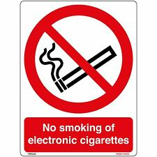 No Smoking of Electronic Cigarettes Sign Sticker (150 x 200mm)