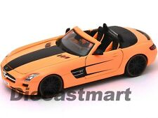 MAISTO ALL STAR 1:24 MERCEDES-BENZ SLS AMG ROADSTER DIECAST MODEL ORANGE 31307