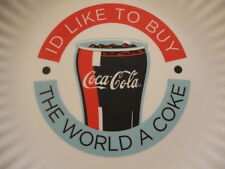 "Coca Cola ""I'd Like To Buy The World A Coke"" Collector Plate 9"""