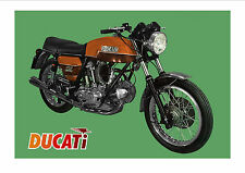 DUCATI Poster GT750  1971 1972 1973 1974 1975 1976 1977 1978 Suitable to Frame