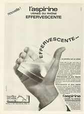 Publicité Advertising 1965  aspirine effervescente USINES DU RHONE médicaments