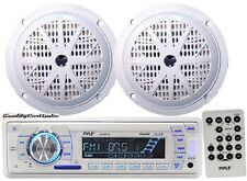 "NEW Pyle Marine Stereo AM/FM Receiver USB/SD iPod Inout +2 x 100W 5.25"" Speakers"