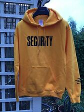 V FILES X JUSTIN BIEBER PURPOSE TOUR YELLOW SECURITY HOODY HOODIE fear of god