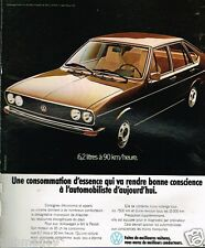 Publicité advertising 1974 VW Volkswgen Passat