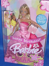 ♥  Mattel 2004 NRFB TOP Zustand Happy Birthday Party Geburtstag Barbie Puppe