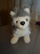 "Retired Bearington Collection Husky Dog TIMBER Plush Toy 9"" Long Animal Stuffed"