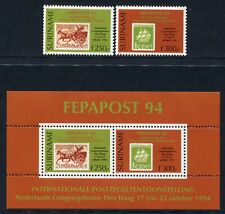 SURINAM 1994 FEPAPOST Philatelie Briefmarken 1493-1494 + Block 63 ** MNH