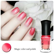 1Bottle 6ml Thermal Color Changing Peel Off Nail Art Polish Varnish Red to Pink