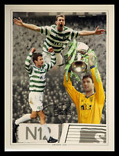 *New* Chris Sutton Signed 12x16 Celtic Fc Montage