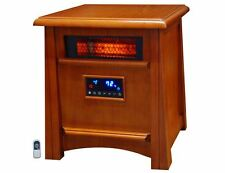 LifeSmart 5,100-BTU Infrared Cabinet Electric Space Heater Thermostat Portable