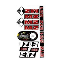 MZ ETZ 251 STICKER SET 9 PIECE SET