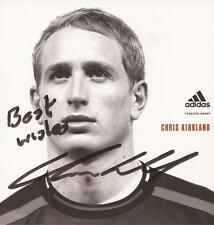 ENGLAND & LIVERPOOL: CHRIS KIRKLAND SIGNED 5x5 ADIDAS PROMO/PHOTO+COA