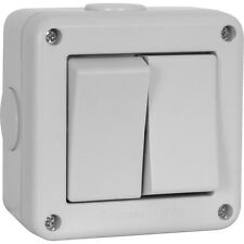 Outdoor weatherproof Crabtree IP56 20A Switch 2 Gang 2 Way