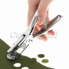Leather Craft 2 in 1 Garment Notches & Pattern Round Hole Punch Pliers Puncher