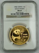 1982 China Gold Panda 1 Oz. .999 Coin NGC MS-67