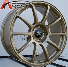18X8.5 ROTA G FORCE WHEELS 5X114.3 RIM 48MM GOLD FITS MAZDA SPEED 3 RX8 STI
