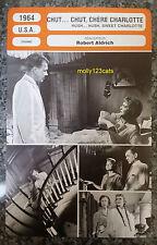 US Thriller Hush… Hush, Sweet Charlotte Bette Davis French Film Trade Card