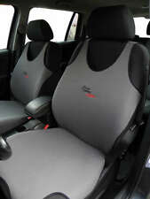 2 GREY FRONT VEST T-SHIRT CAR SEAT COVERs PROTECTOR FOR Honda Jazz