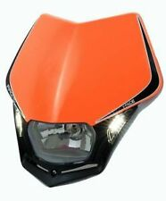 Racetech V-Face KTM Orange LED Headlight Enduro SXF250 SXF450 SX250F SX450F