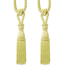2 Pack Decorative Rope Fringe Tassel Window Curtain Holdback Tie Back Lt Gold