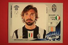 PANINI CHAMPIONS LEAGUE 2012/13 N. 344 PIRLO JUVENTUS BLACK BACK MINT!