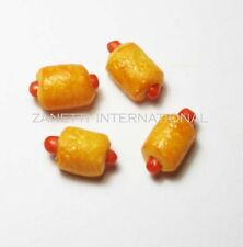 Set of 4 Dollhouse Miniature Sausage Rolls * Doll Mini Food Tiny Bakery Savoury