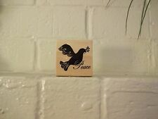 """Craft Smart Christmas Wood Stamps """"Peace Dove"""" 2"""" x 2"""" So Adorable & Fun!"""
