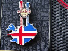 Hard Rock Cafe Iceland Reykjavik Double Neck Flag map Guitar pin 2016 LE 300